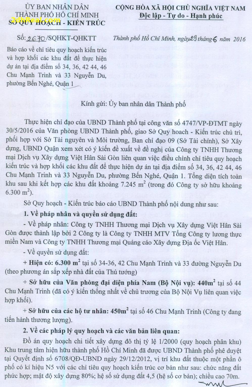 Bán khu đất 34 -36, 42 Chu Mạnh Trinh, phường Bến Nghé, quận 1, Tp.HCM