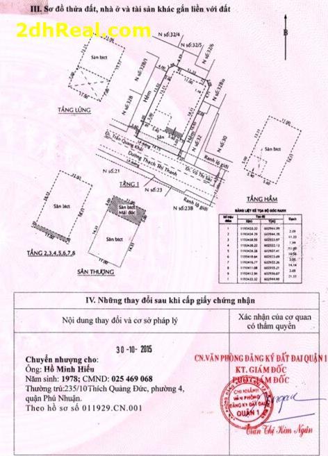 Bán cao ốc 32 Thạch Thị Thanh, phường Tân Định, quận 1, Tp.HCM
