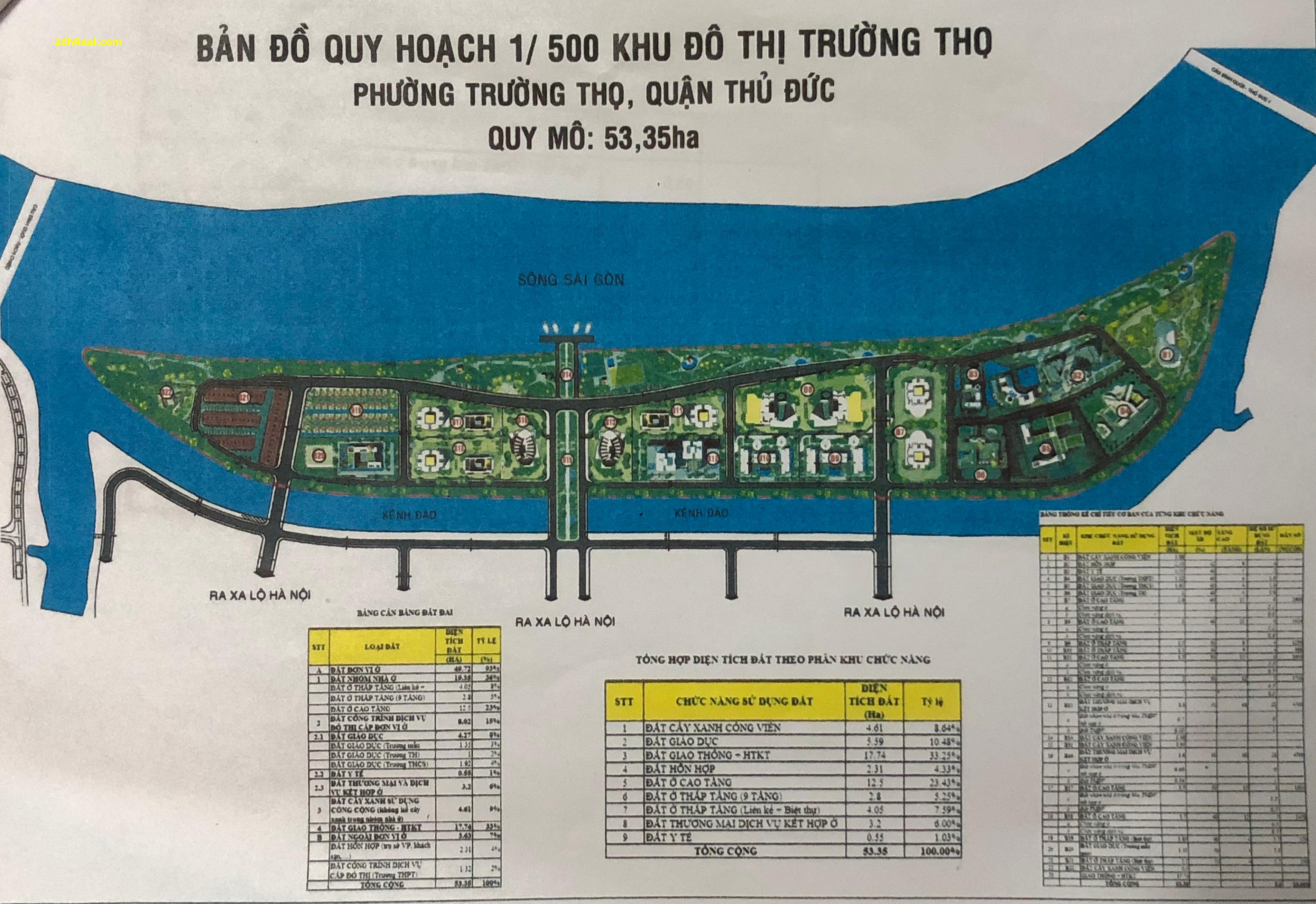 Bán dự án 53,35ha khu đô thị Trường Thọ, phường Trường Thọ, quận Thủ Đức, Tp.HCM
