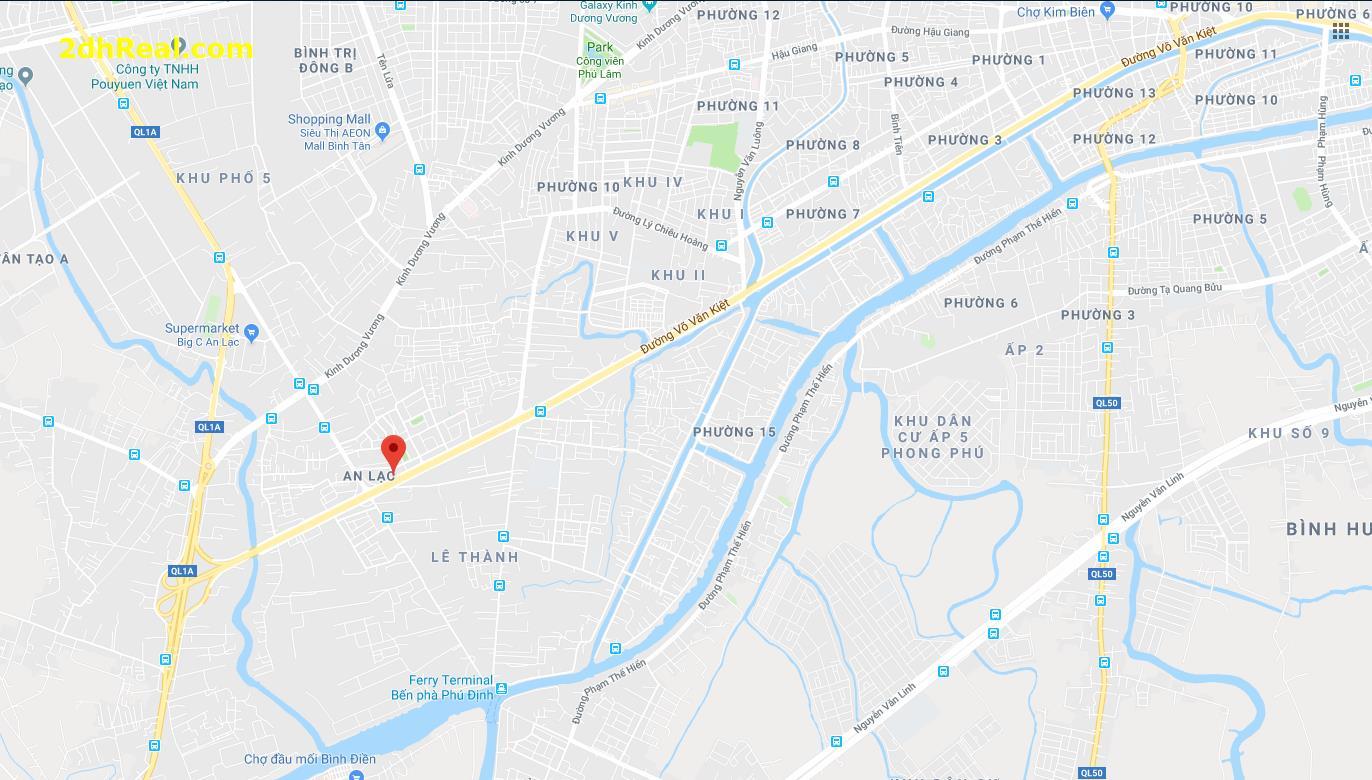 Chuyển nhượng dự án:  Mặt tiền đường Đại Lộ Võ Văn Kiệt (4,19 ha)