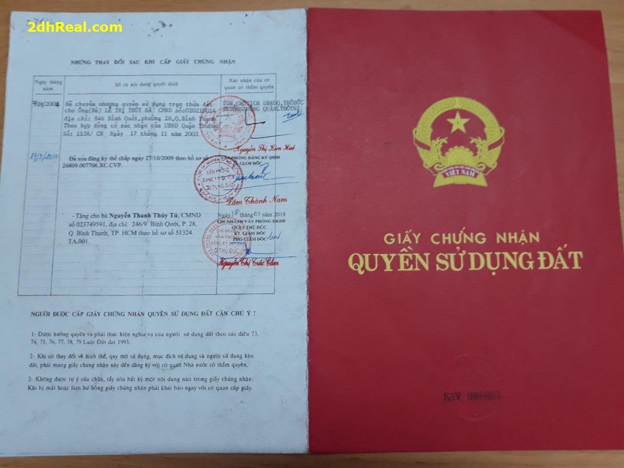 Khách gửi bán lô đất tại phường Hiệp Bình Chánh quận Thủ Đức Tp.HCM- Lh: 0937003355 Mr Long.