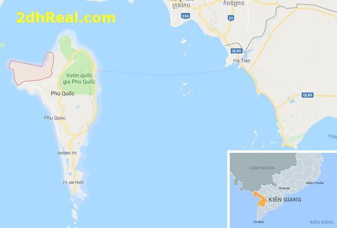 Bán dự án khi du lịch nghỉ dưỡng 96,5 hecta Ấp Chuồng Vích, xã Gành Dầu, huyện Phú Quốc, tỉnh Kiên Giang