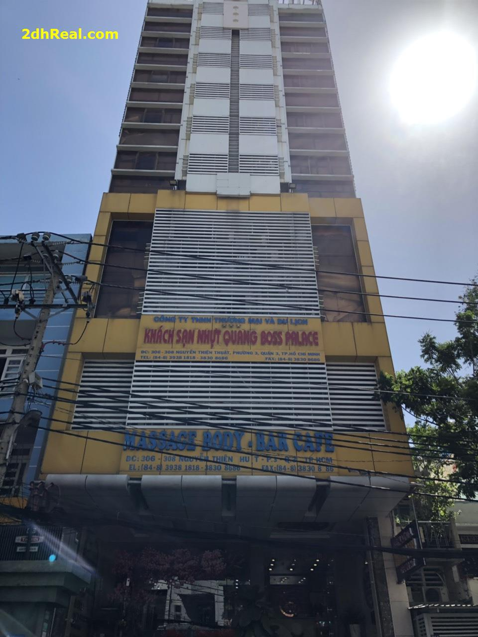 Bán Khách Sạn 60 phòng, 306 – 308 Nguyễn Thiện Thuật, phường 3, quận 3