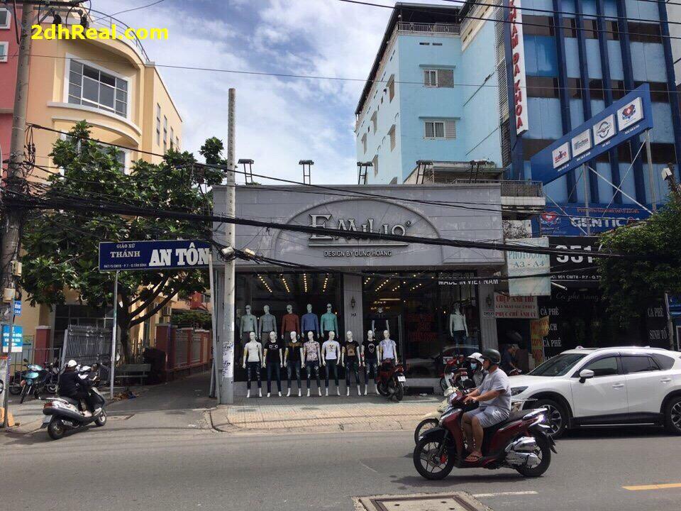 Cho thuê nhà mặt tiền số 949-951 Cách Mạng Tháng 8 phường 07 quận Tân Bình Tp.HCM. 8,5mx15m 130triệu.