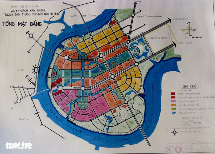 Bản đồ quy hoạch 1/5.000 Thủ Thêm được Thủ tướng phê duyệt là có thật ?