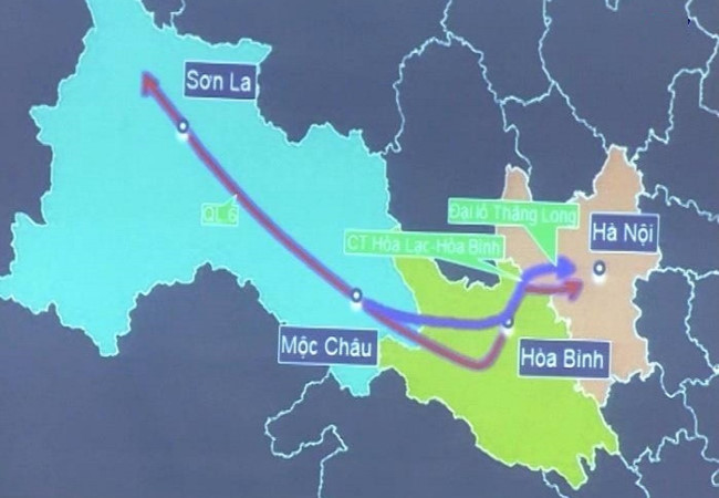 Đầu tư tuyến đường bộ từ Hòa Bình đi Mộc Châu (Sơn La)