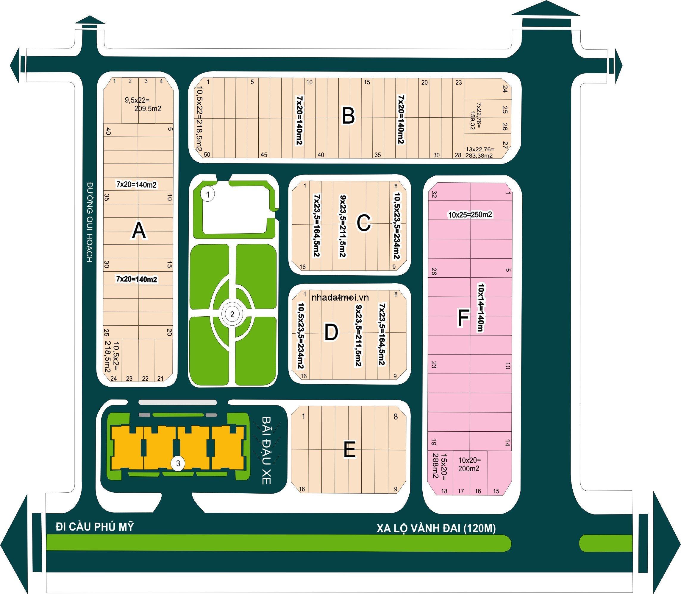 Dự án Công ty Hải Duy trong khu 154 ha Khu dân cư Bình Trưng Đông - Cát Lái Quận 2