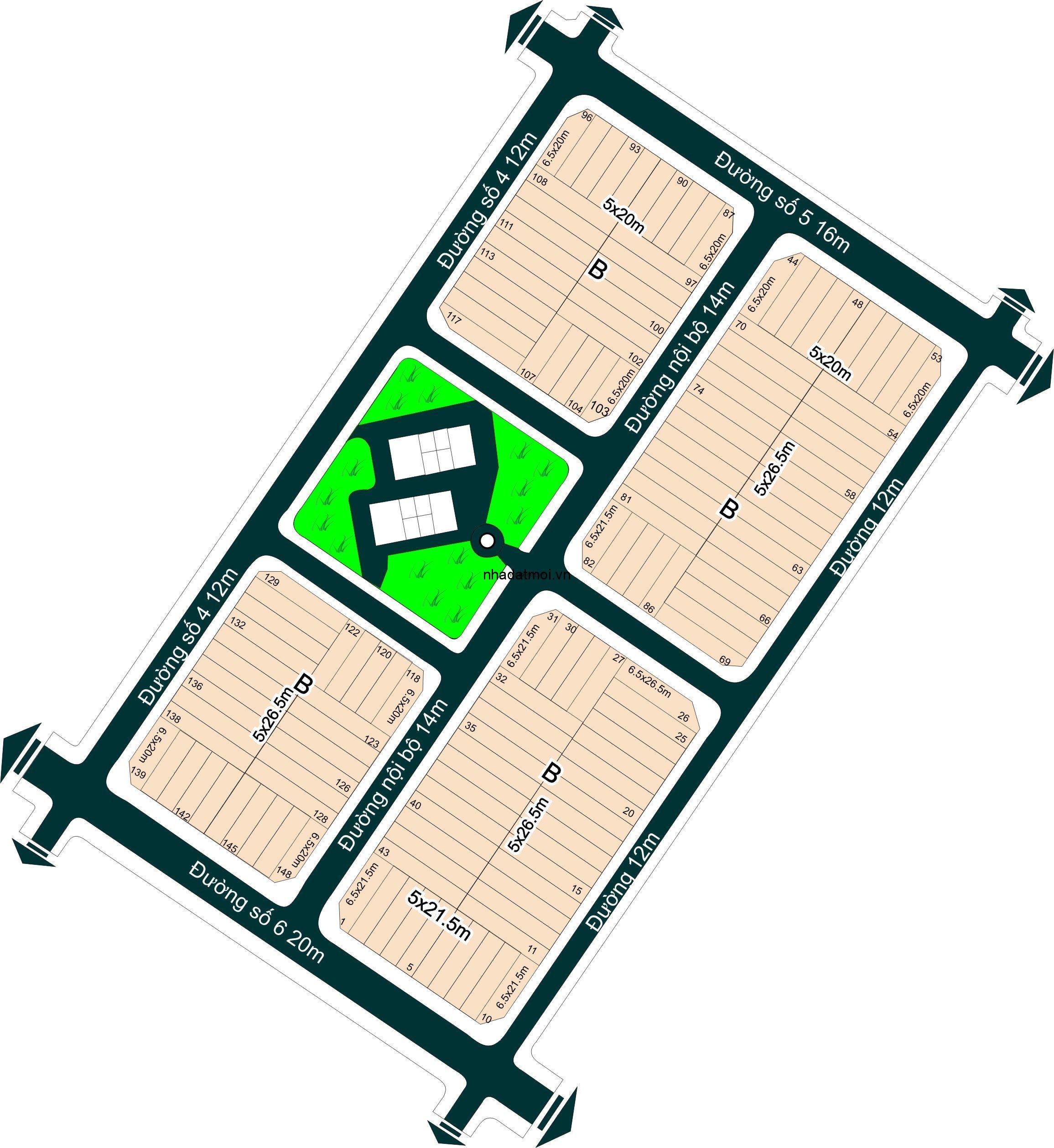 Dự án công ty kinh doanh nhà Q1 trong khu 154 ha Khu dân cư Bình Trưng Đông - Cát Lái Quận 2
