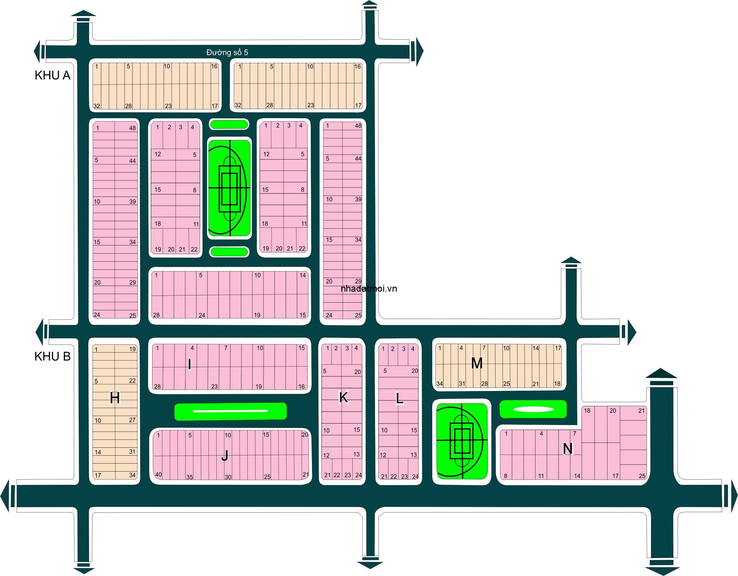 Dự án Phú Nhuận trong khu 154 ha Khu dân cư Bình Trưng Đông - Cát Lái Quận 2