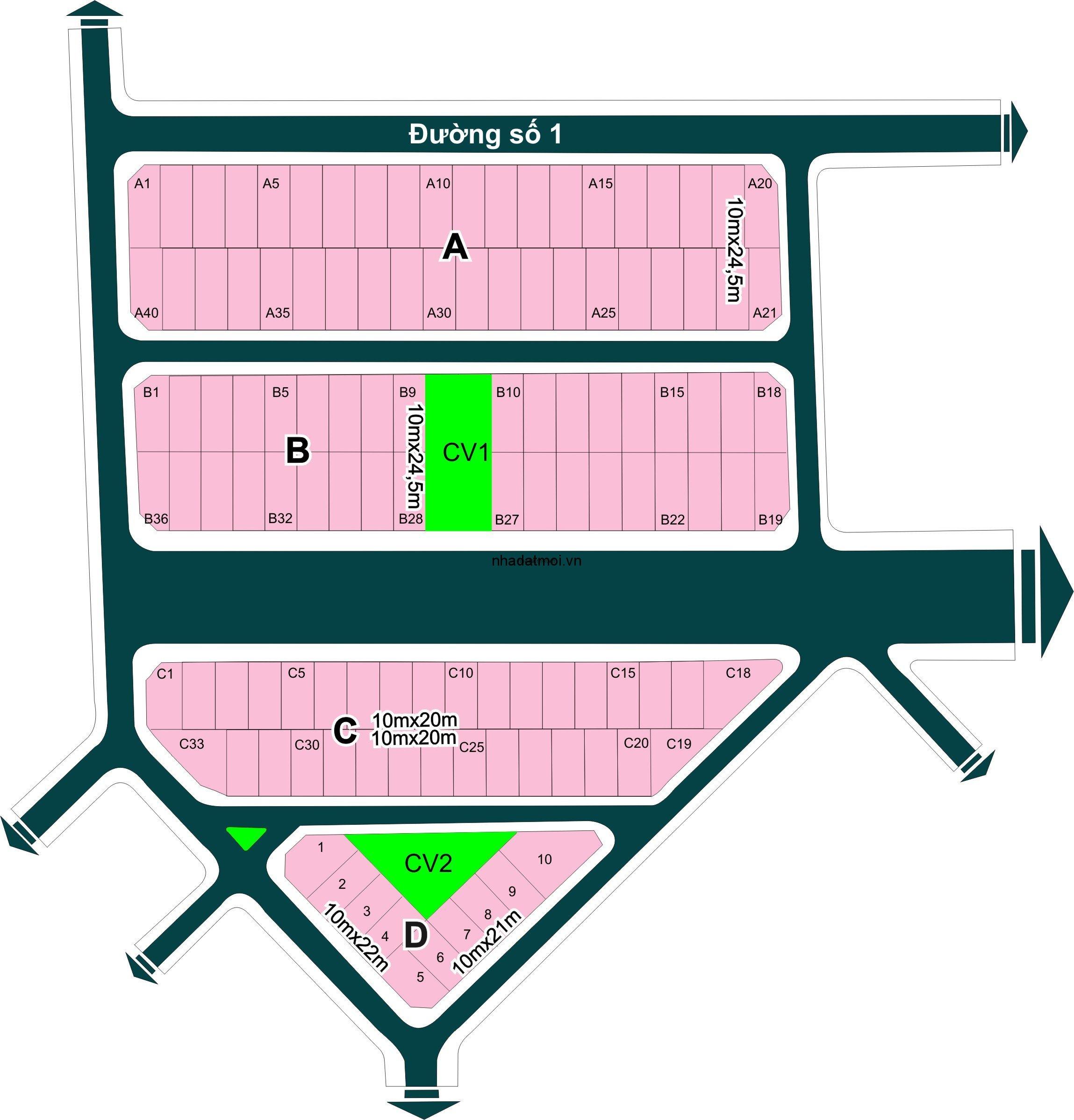 Dự án Thái Sơn trong khu 154 ha Khu dân cư Bình Trưng Đông - Cát Lái Quận 2