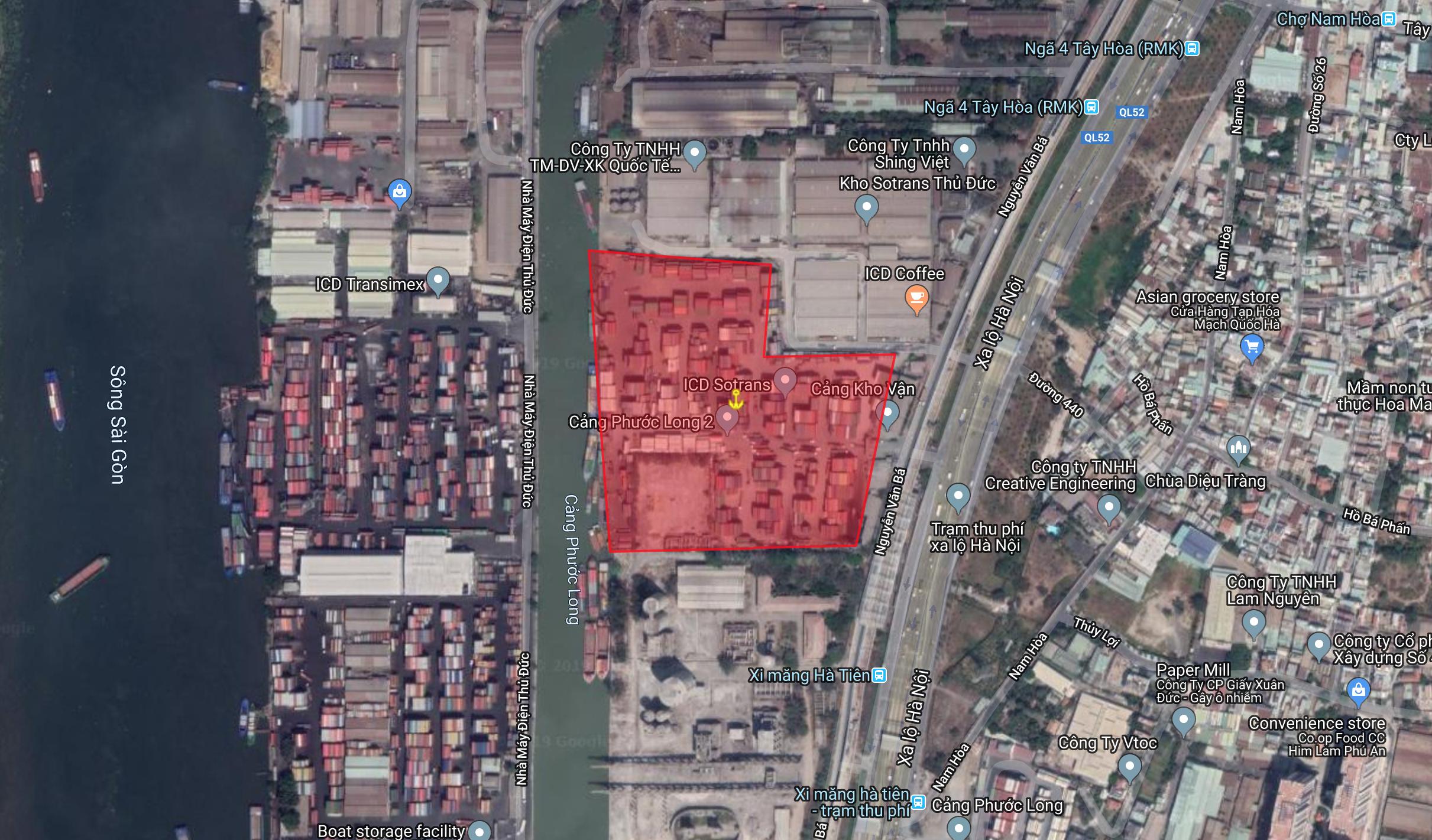 HCM | Cảng Kho vận Miền Nam Trường Thọ, Thủ Đức, Tp.HCM | Bán cảng đường thuỷ | Cảng thuỷ nội địa